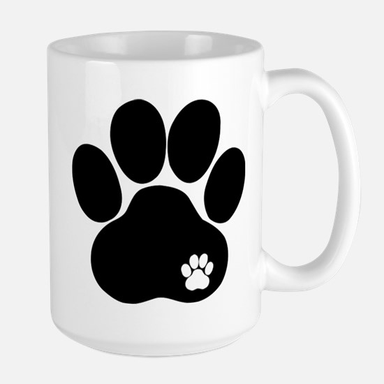 Double Paw Print Large Mug