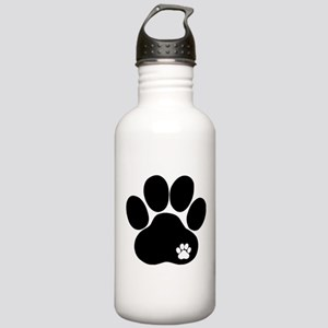 Double Paw Print Stainless Water Bottle 1.0L