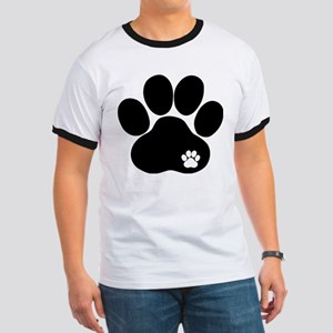 Double Paw Print Ringer T
