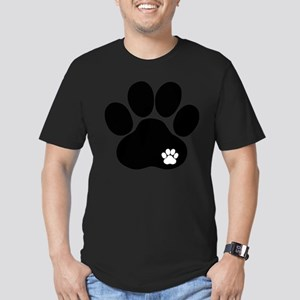 Double Paw Print Men's Fitted T-Shirt (dark)