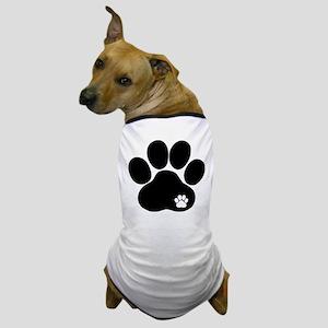 Double Paw Print Dog T-Shirt