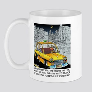 Reindeer Cabbie Mug