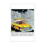 Reindeer Cabbie Mini Poster Print
