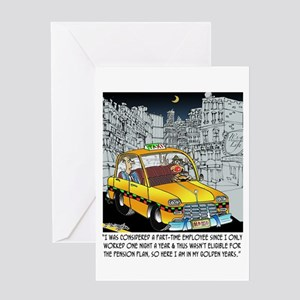 Reindeer Cabbie Greeting Card