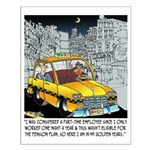 Reindeer Cabbie Small Poster