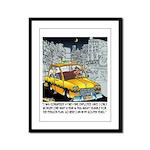 Reindeer Cabbie Framed Panel Print