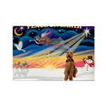 XmasSunrise/Airedale #3 Rectangle Magnet (10 pack)