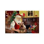Santas Airedale Rectangle Magnet