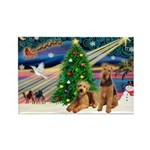 XmasMagic/Airedale Rectangle Magnet (10 pack)