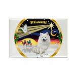 XmasDove/Am Eskimo Rectangle Magnet (10 pack)
