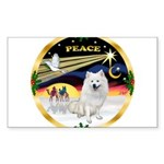XmasDove/Am Eskimo Sticker (Rectangle)