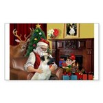Santa/Anatolian Shep Sticker (Rectangle 50 pk)