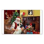 Santa/Anatolian Shep Sticker (Rectangle 10 pk)