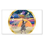 XmasStar/Cattle Dog Sticker (Rectangle 10 pk)