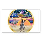 XmasStar/Cattle Dog Sticker (Rectangle)