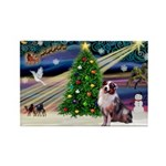 XmasMagic/Aussie (#1) Rectangle Magnet (10 pack)