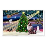 XmasMagic/Aussie (#1) Sticker (Rectangle 10 pk)