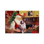 Santa's Aussie (#1) Rectangle Magnet (10 pack)