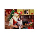 Santa's Aussie (#1) Rectangle Magnet (10 pack)