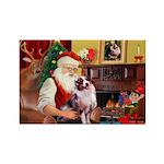 Santa's Aussie (#1) Rectangle Magnet