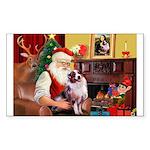 Santa's Aussie (#1) Sticker (Rectangle)