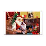 Santa's Aussie (#1) Rectangle Car Magnet