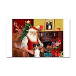 Santa's Tri Aussie (#7) Car Magnet 20 x 12