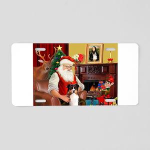 Santa's Tri Aussie (#7) Aluminum License Plate