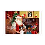 Santa's Tri Aussie (#7) Rectangle Car Magnet