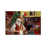 Santa's Basenji (#2) Rectangle Magnet (10 pack)