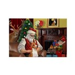 Santa's Basenji (#2) Rectangle Magnet