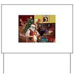 Santa's Basenji (#2) Yard Sign