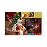 Santa's Basenji (#2) Rectangle Car Magnet