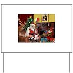 Santa's Basset Hound Yard Sign