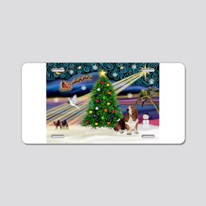 Xmas Magic - Basset Aluminum License Plate