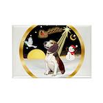 Night Flight/Beagle #2 Rectangle Magnet