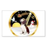 Night Flight/Beagle #2 Sticker (Rectangle)