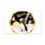 Night Flight/Beagle #2 Rectangle Car Magnet