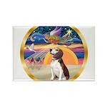 XmasStar/Beagle 2 Rectangle Magnet (10 pack)