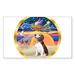 XmasStar/Beagle 2 Sticker (Rectangle 10 pk)