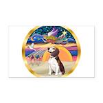 XmasStar/Beagle 2 Rectangle Car Magnet