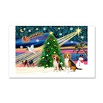 XmasMagic/2 Beagle Car Magnet 20 x 12