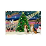 XmasMagic/2 Beagle Rectangle Magnet
