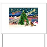 XmasMagic/2 Beagle Yard Sign