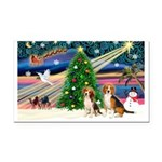 XmasMagic/2 Beagle Rectangle Car Magnet