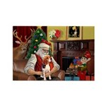 Santa's Beagle Rectangle Magnet (10 pack)