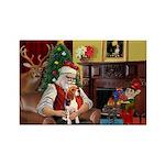 Santa's Beagle Rectangle Magnet