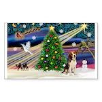 Xmas Magic & Beagle Sticker (Rectangle 50 pk)