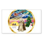 XmasMagic/Beardie #16 Sticker (Rectangle)