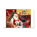 Santa's Beardie pair Car Magnet 20 x 12